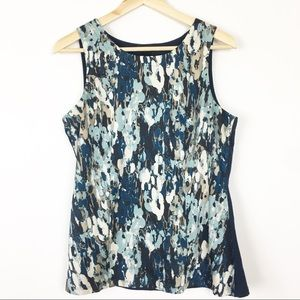 Ann Taylor career tank blue size Medium